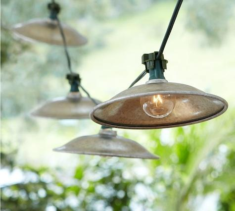 Cafe String Lights Above Bocce Court | Sonoma Landscape Design and